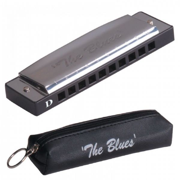 JHS THE BLUES HARMONICA 'D' including Case - TB10D